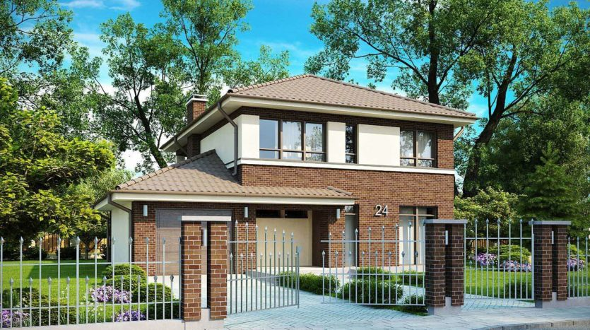 Проект дома из газоблоков ДП-БС-002 | Проекты домов и