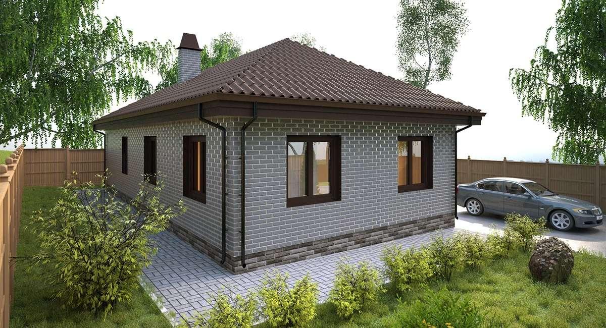Одноэтажный дом из газосиликатных блоков своими руками 61