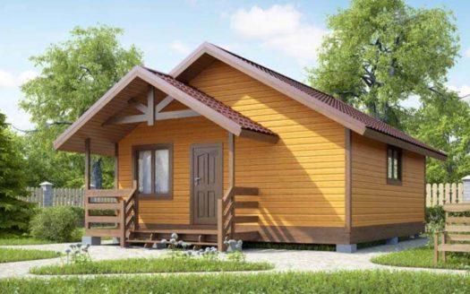 Проект деревянной бани 6х6 Воротынск