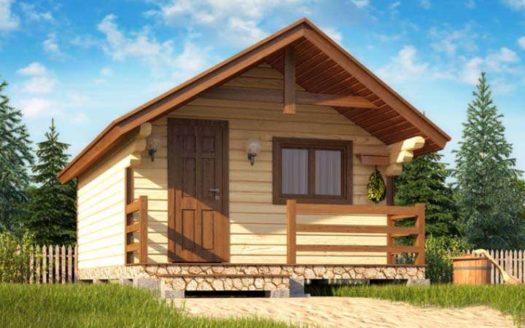 Проект деревянной бани 4х5 Лакинск