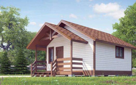 Проект деревянной бани 5х5 Ореховск