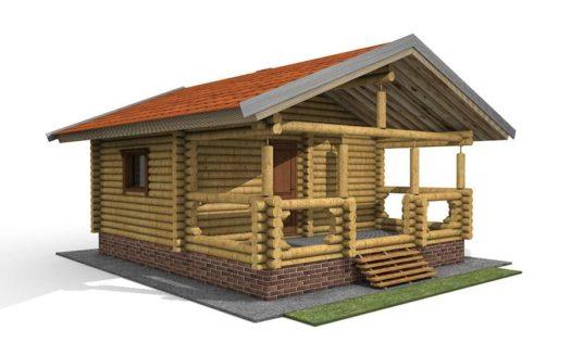 Проект деревянной бани 6 на 7