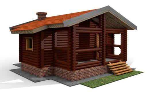 Проект деревянной бани 7х7