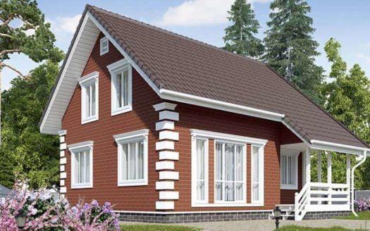 Проект кирпичного дома Ясноморск