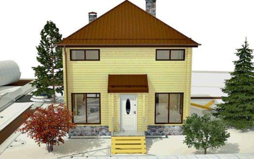 Проект дома Кинель из профилированного бруса