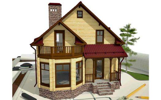 Проект дома из профилированного бруса Неприк