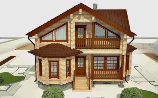Проект дома из профилированного бруса Камелик