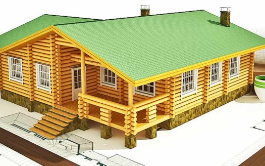 Проект оцилиндрованного дома из бревна Новолитовск