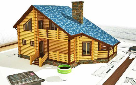 Проект оцилиндрованного дома из бревна Архангельск