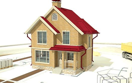 проект маленького кирпичного дома