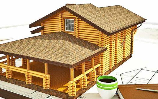 Проект оцилиндрованного дома из бревна Муром