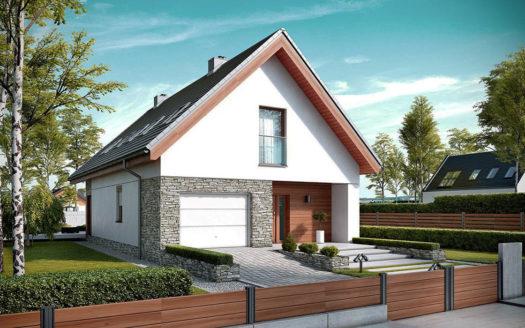 Проект дома из газоблока с мансардой