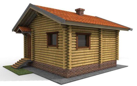 Проект деревянной бани 6х5