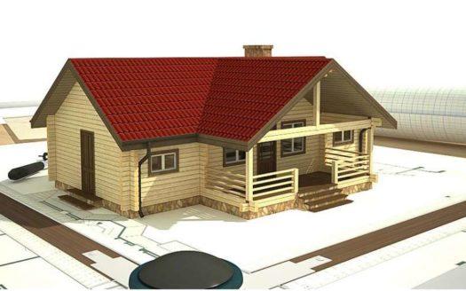 Проект дома и бани из профилированного бруса