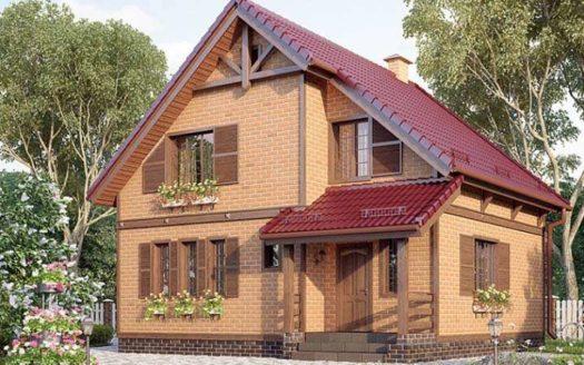 Проект кирпичного дома из кирпича Долинск