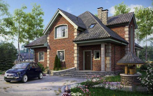проект кирпичного дома с мансардой