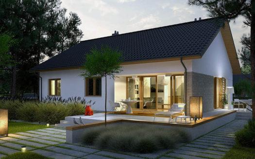 проект одноэтажного каркасного дома до 100