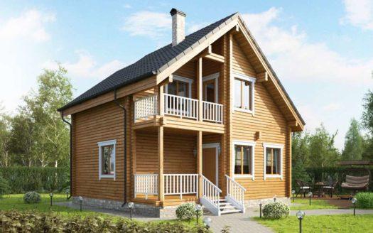 Проект дома из профилированного бруса Балтийск