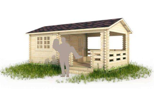 Проект садового домика 008 Мозындор