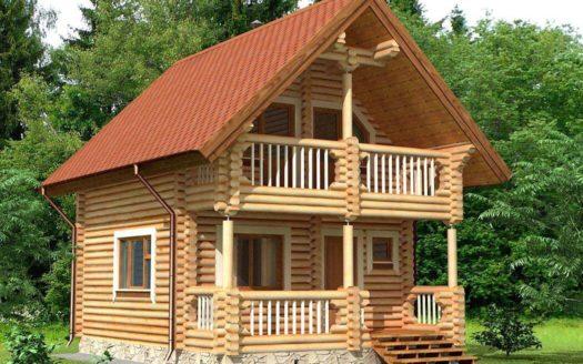 Проект дома-бани из оцилиндрованного бревна Яранск