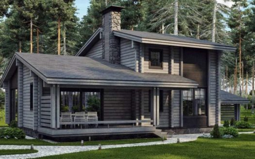 Проект дома из двойного бруса