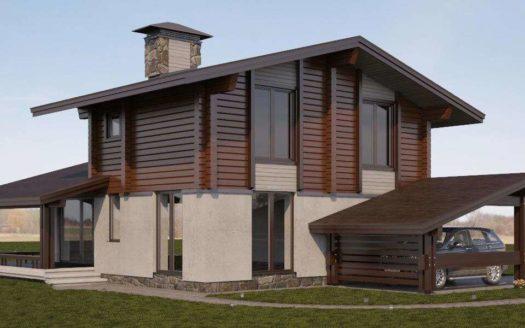 Комбинированный проект дома