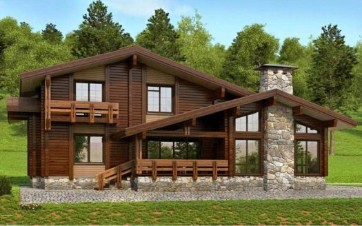 Проект дома в стиле ШАЛЕ Воркута