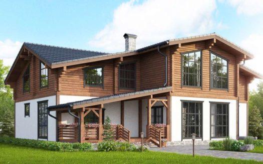 Комбинированный проект дома шале