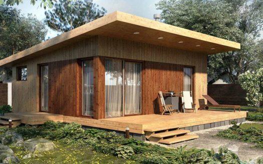 Проект летнего домика с террасой