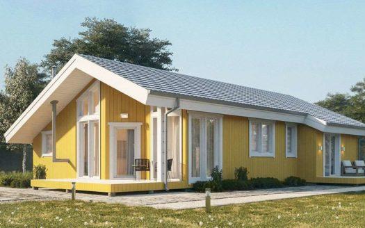 Проект одноэтажного каркасного дома с сауной