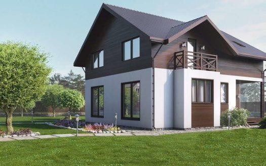 Проект дома шале Оленегорск
