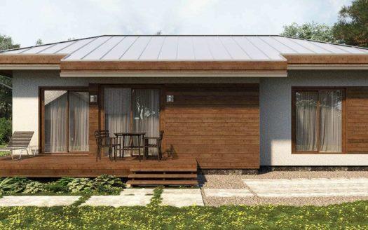 Проект одноэтажного дома из газоблоков Солнечногорск