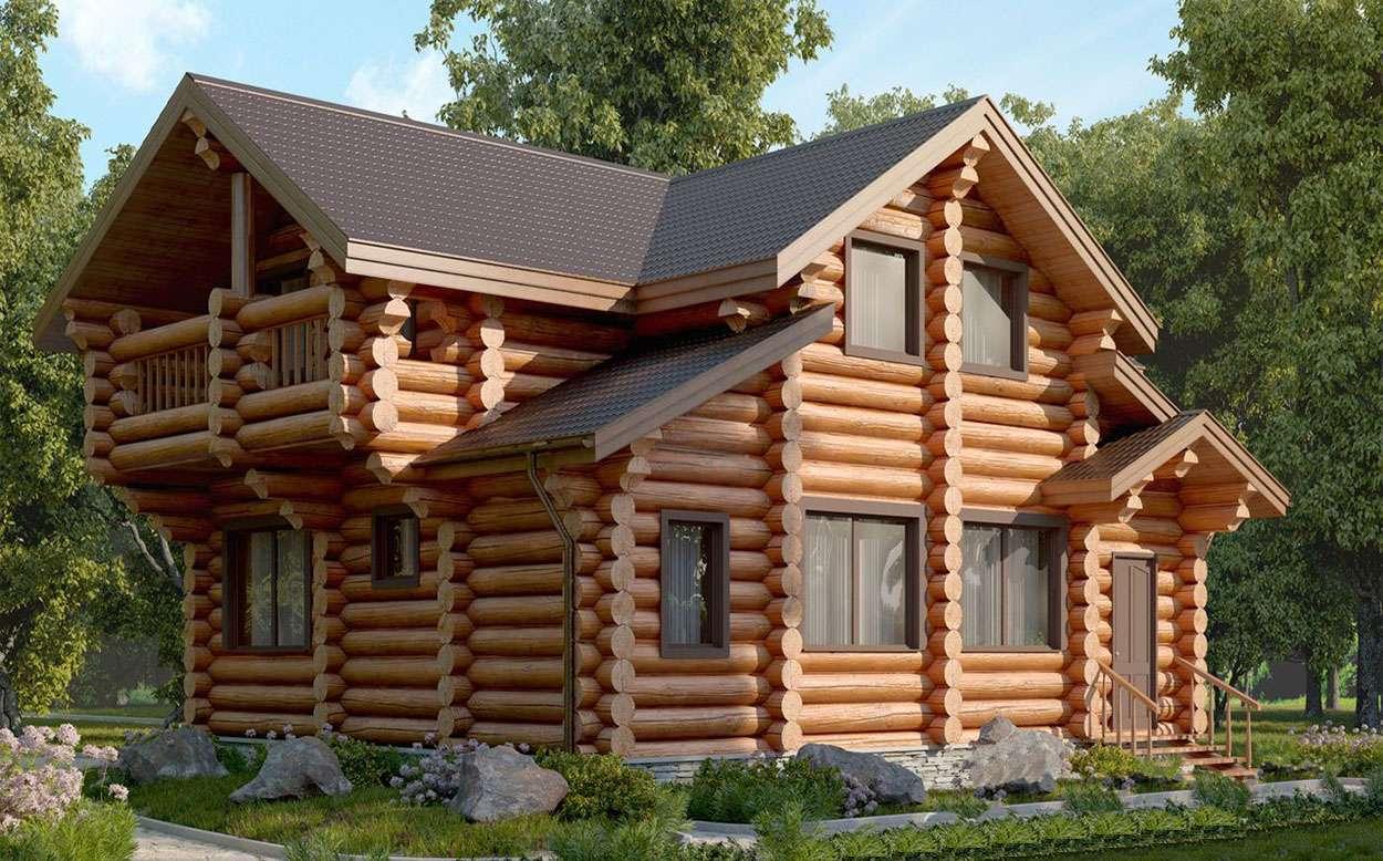 Дома из оцилиндрованного бревна под ключ проекты и цены