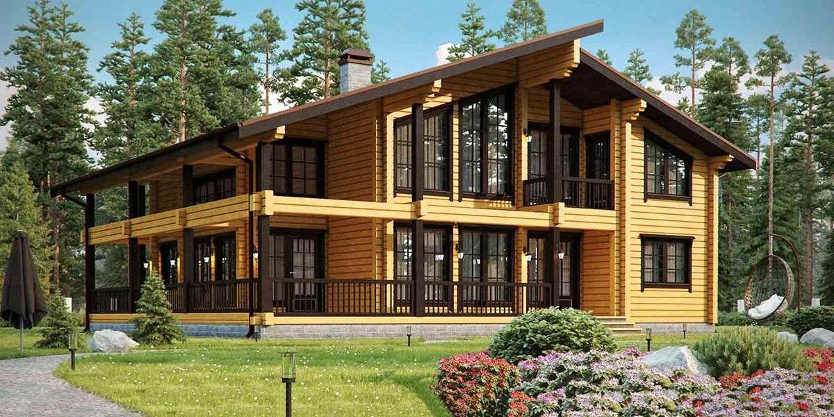 Постройка загородных домов, домов и коттеджей из деревянного бруса