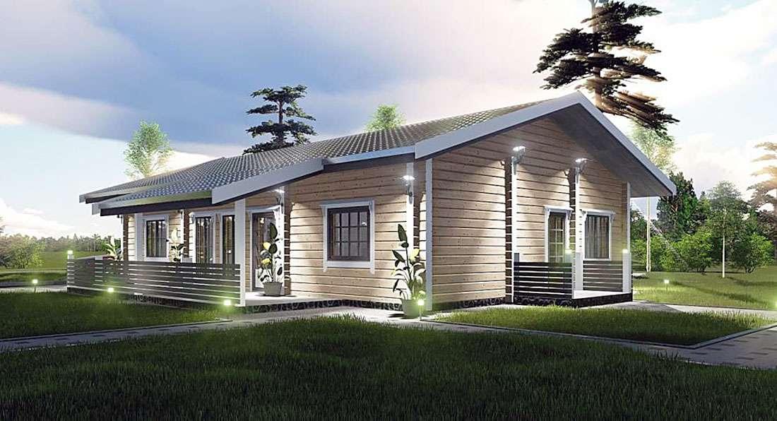 Дом из двойного профилированного бруса
