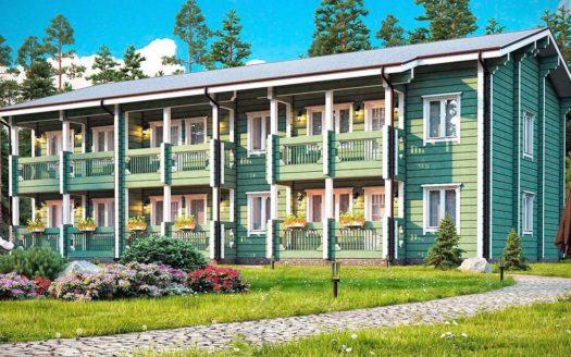 Проект деревянной гостиницы из бруса
