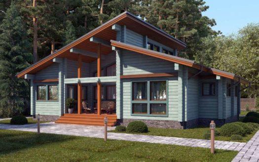 Проект одноэтажного дома из бруса Оренбург