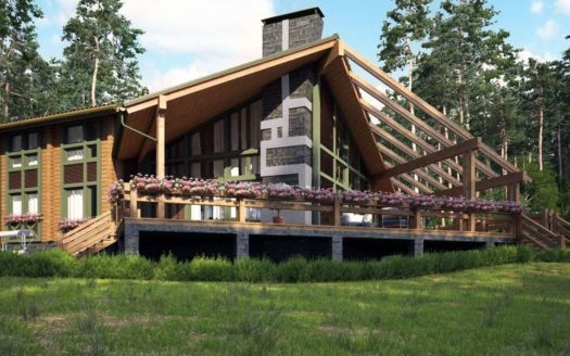 Проект дома из бруса со вторым светом Башар