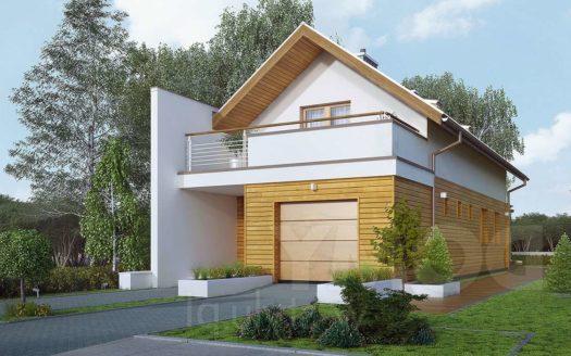 Проект дома для узкого участка с гаражом