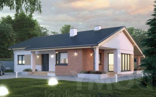 Проект одноэтажного дома из кирпича