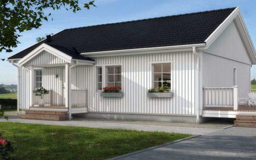 Одноэтажный проект финского дома с сауной