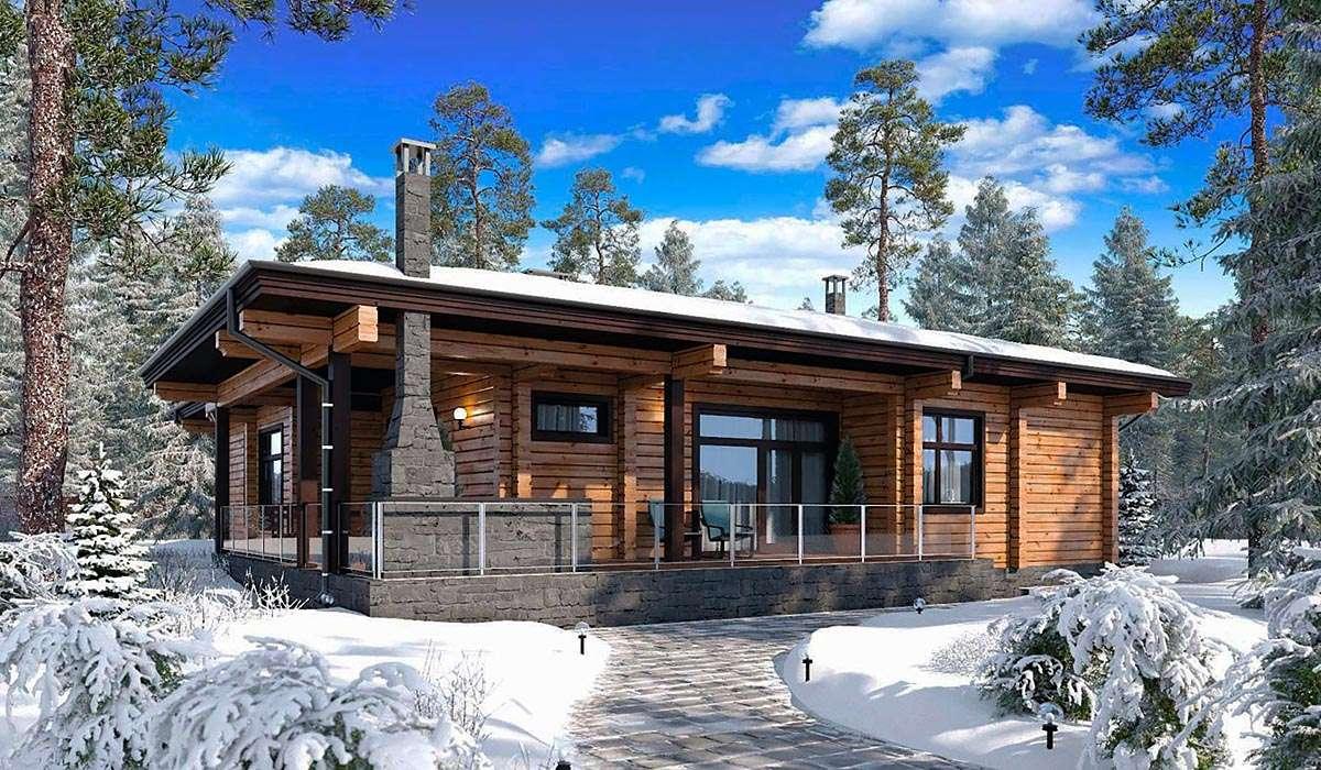 красивые одноэтажные деревянные дома проекты фото все равно