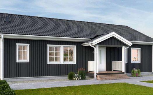 Финский проект одноэтажного дома из клееного бруса
