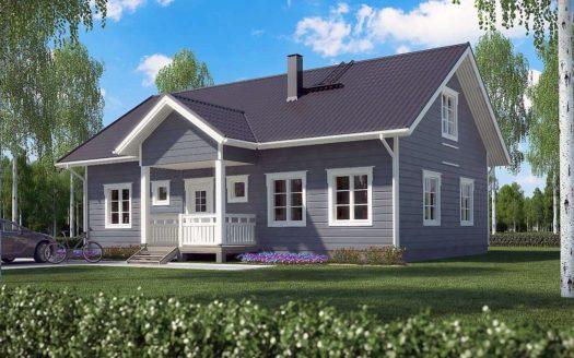 Проект финского дома с мансардой