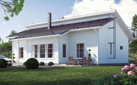 Проект финского одноэтажного каркасного дома