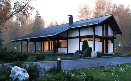 Проект современного фахверкового дома