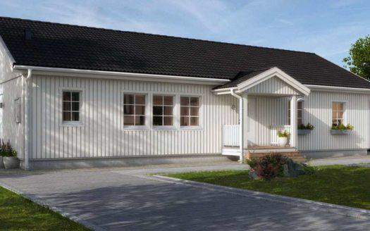 Одноэтажный финский деревянный дом