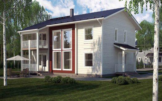 Двухэтажный проект финского дома