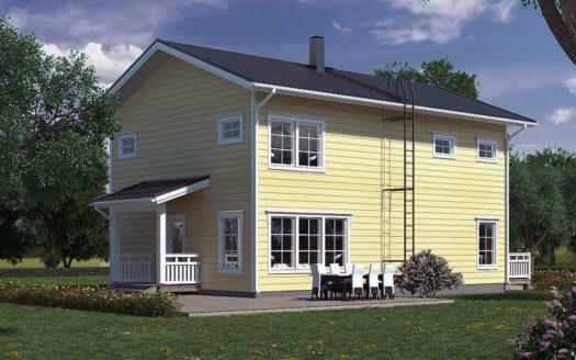 Проект финского дома с сауной