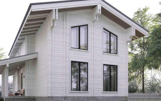 Проект дома из двойного бруса под ключ